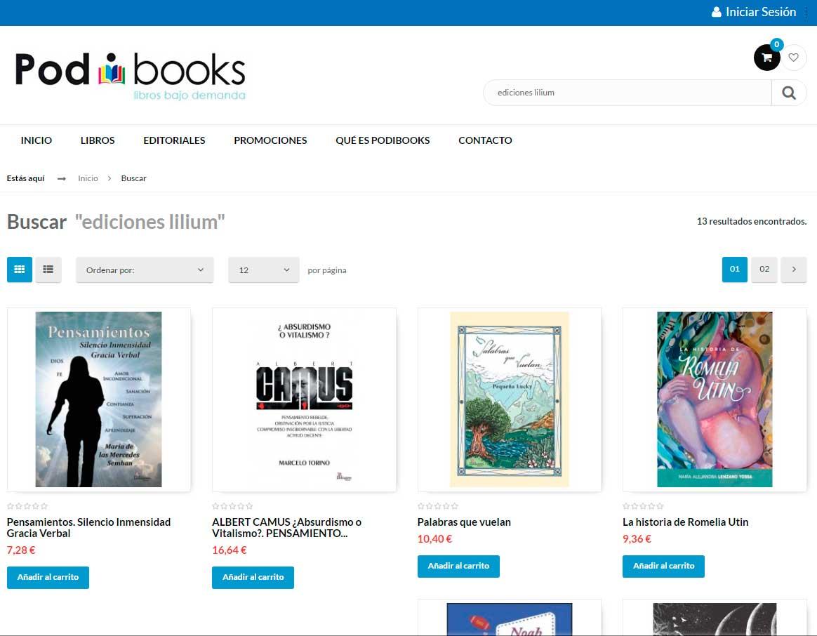 Ediciones Lilium en Podibooks